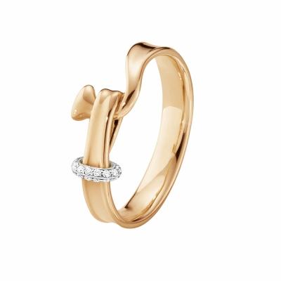 GEORG JENSEN-TORUN朵蘭18K玫瑰金鑲鑽戒指