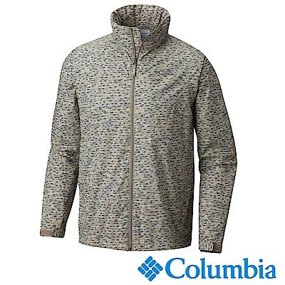Columbia 哥倫比亞 男款-防潑風衣連帽外套-棕迷彩 UWE00280BU