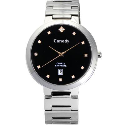 Canody 極度時尚都會腕錶(CM1226-3A)-黑/39mm