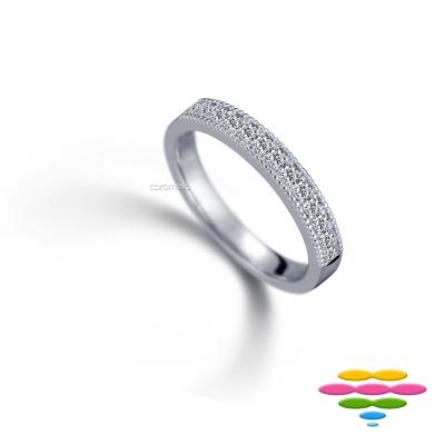 彩糖鑽工坊 Elegance系列 排戒線戒珠邊設計