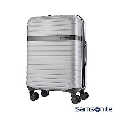 Samsonite 新秀麗 24吋LEVACK 線型紋理雙輪PC硬殼行李箱(銀)