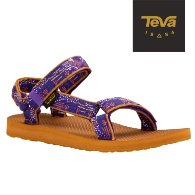 TEVA 美國-女 Original Universal 緹花織帶涼鞋 (圖騰紫)