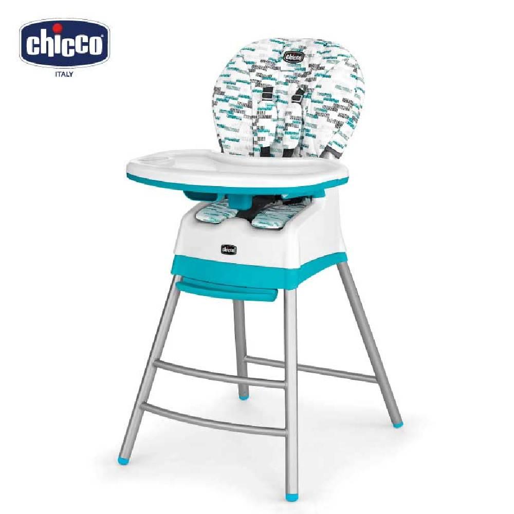 chicco-Stack三合一多功能成長高腳餐椅-波浪藍