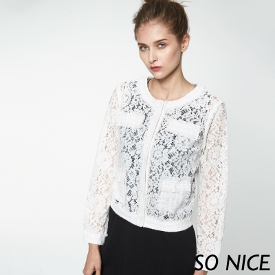 SO NICE優雅小香風蕾絲外套