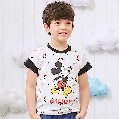 Disney 米奇系列愛跑步條紋連袖上衣 (2色可選)