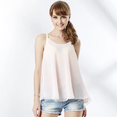 思薇爾-美姬樂章系列美背綁帶雙層蕾絲搭衣-奶黃色