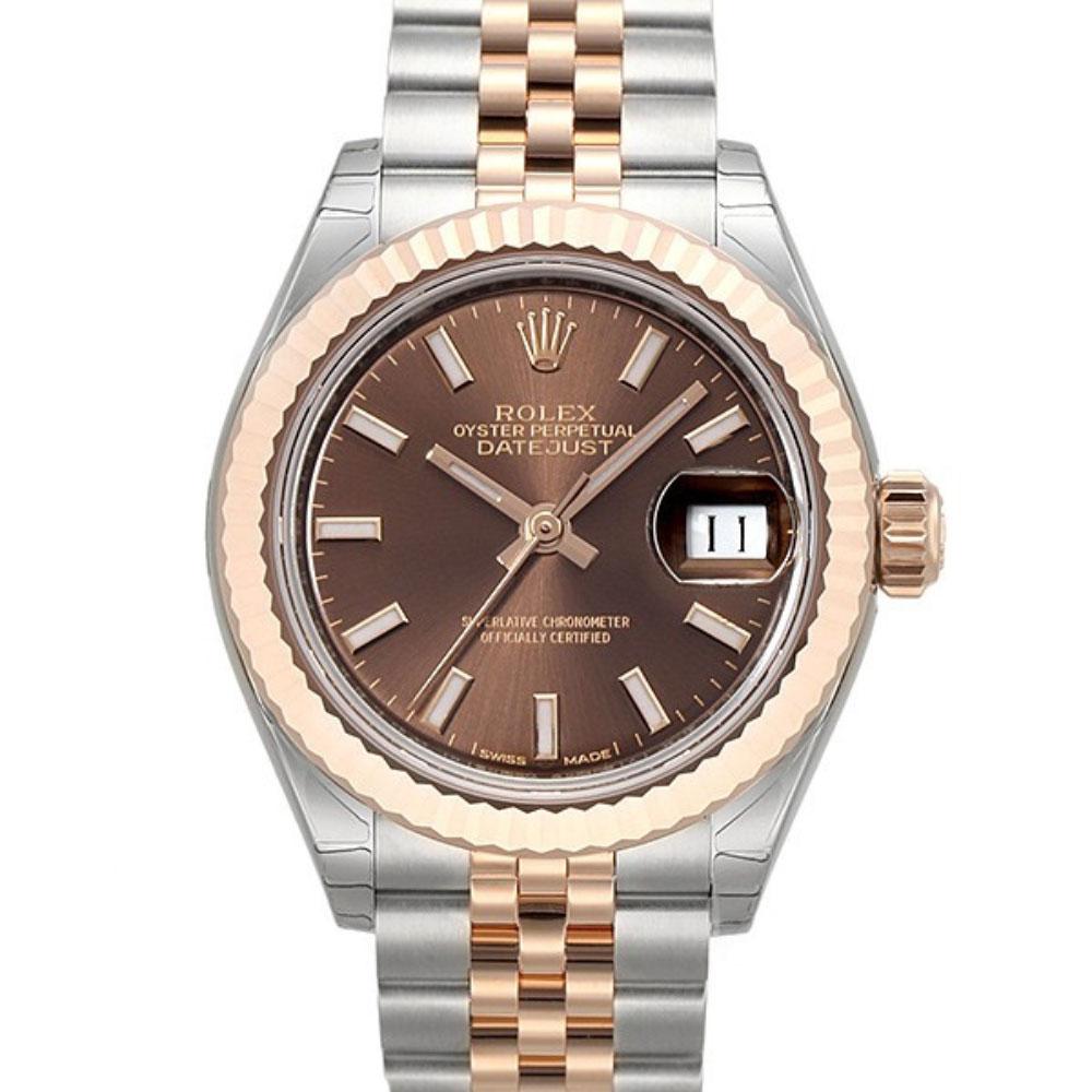 ROLEX 勞力士Datejust 279171蠔式半金日誌型腕錶x咖啡x28mm