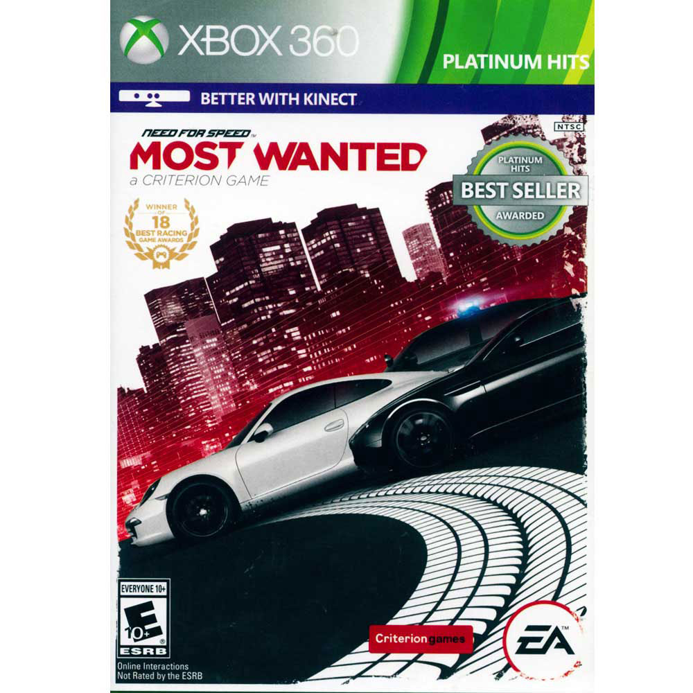 極速快感:新全民公敵MOST WANTED-XBOX360英文美版
