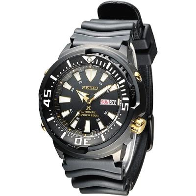SEIKO-200米鮪魚罐頭潛水機械錶-SRP641K1-全IP黑-47mm