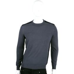 VERSACE 深灰x黑色拼接設計長袖針織衫
