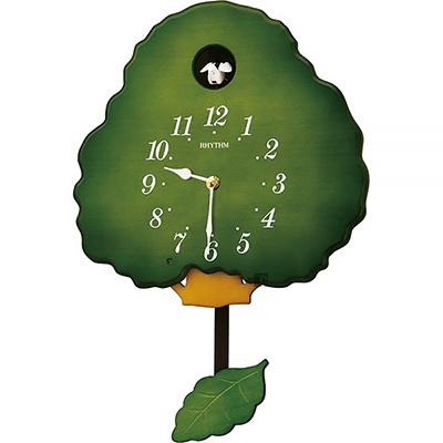 RHYTHM日本麗聲 大樹咕咕鐘-綠/30cm