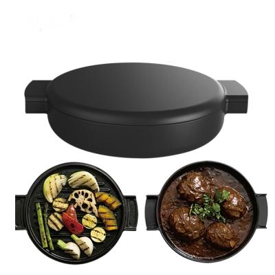 Ovject日本原裝 多功能兩用琺瑯鑄鐵鍋