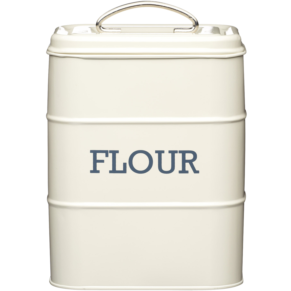KitchenCraft 復古麵粉密封罐(奶油黃)