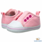 Luvable Friends 粉紅色免穿鞋帶止滑學步嬰兒鞋