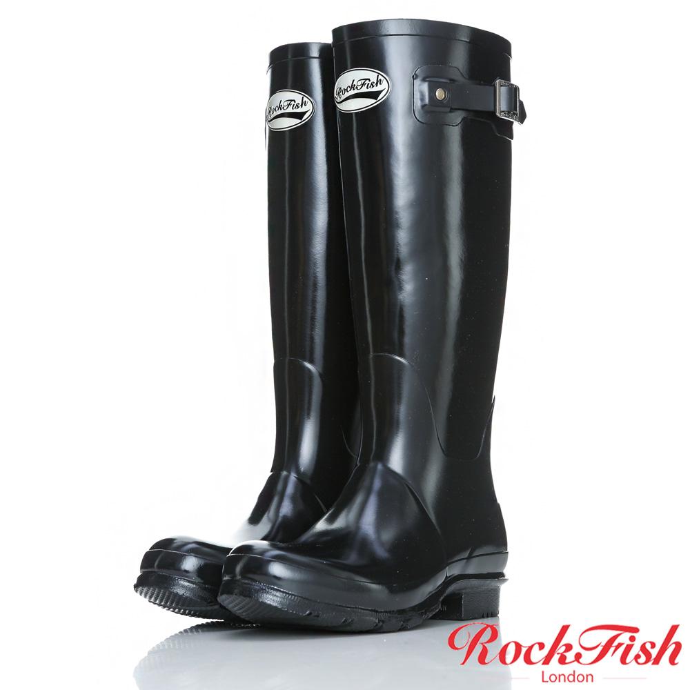 ROCKFISH 時尚百搭顯瘦長筒雨靴 繽粉系列 時尚黑