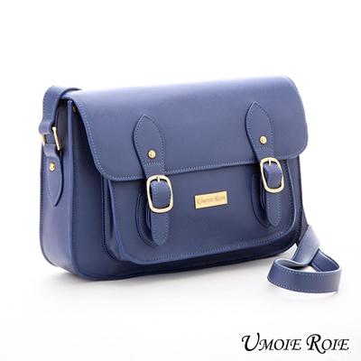 【Umoie Roie】女孩咬筆桿復古文藝書包-氣質小書包(晴心藍)
