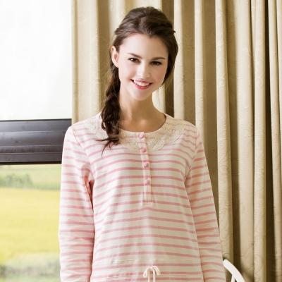 華歌爾睡衣 甜心教主M-L 睡衣裙裝(條紋粉)