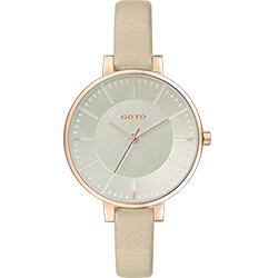GOTO 緣起不滅簡約時尚手錶-IP玫x金/36mm