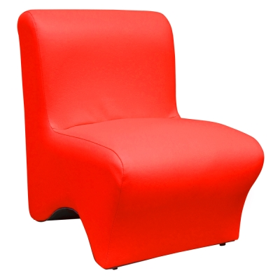 【Mr. chair】時尚美型-單人小沙發 (紅色)