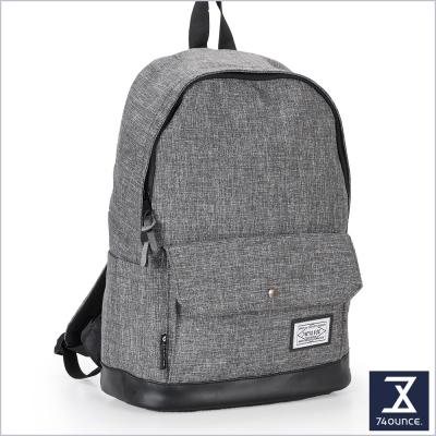 74盎司 CITY S 配皮設計後背包(14吋)[G-904]灰