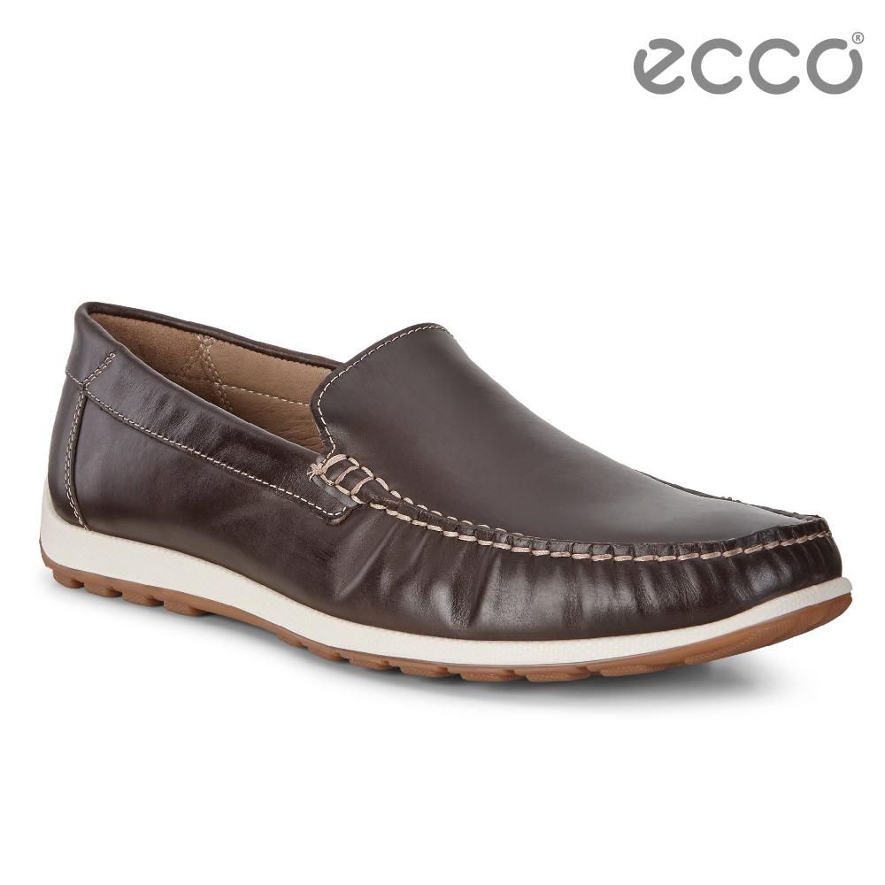 ECCO DIP MOC 男 簡約輕便莫卡辛鞋-咖啡