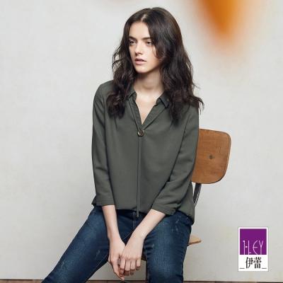 ILEY伊蕾-都會時尚極簡上衣魅力價商品-灰-綠