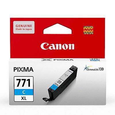 Canon CLI-771XL C 原廠藍色高容量墨水匣