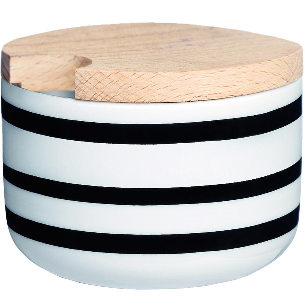 KAHLER Omaggio木蓋糖碗(黑)