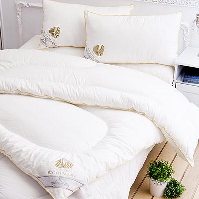 【Annabelle】特選-100%澳洲進口高級純羊毛被-3.0KG+羊毛枕一對