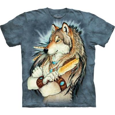 摩達客 美國進口The Mountain 金狼羽毛  純棉環保短袖T恤