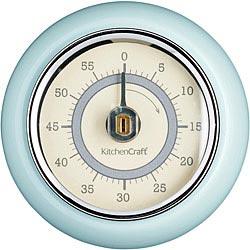 KitchenCraft 磁吸復古發條計時器(藍)