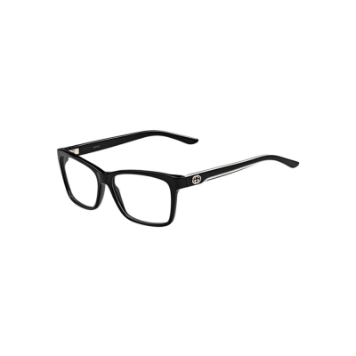 GUCCI-時尚光學眼鏡(黑色琥珀色)