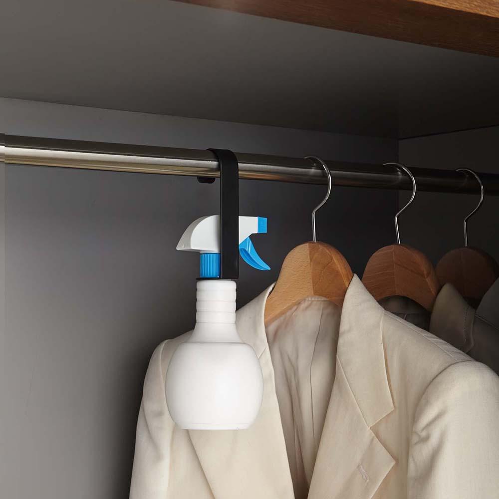 【YAMAZAKI】日式極簡水瓶掛架-黑★居家收納/置物架/多功能掛架
