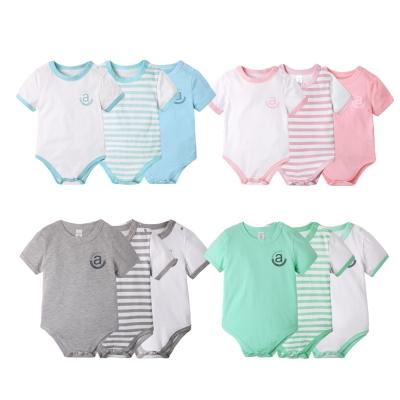 baby童衣 質感品味純棉嬰兒短袖 3件組 61006