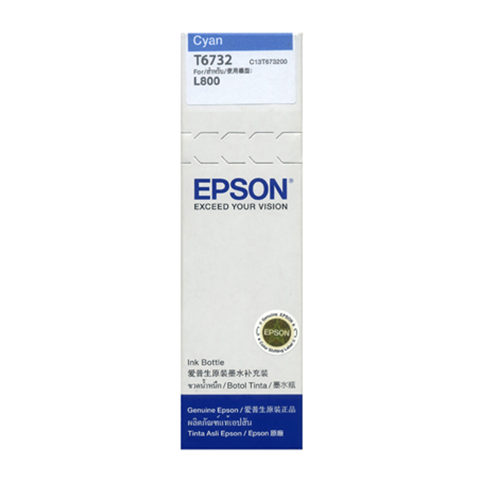 EPSON T673200 原廠藍色墨水匣 (For L800)
