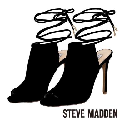 STEVE-MADDEN-細緻綁帶露趾高跟涼鞋-黑