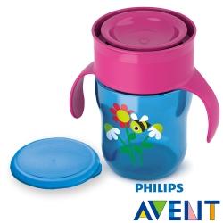 PHILIPS AVENT -自然喝水防漏水杯260m-桃紅(E65A078200)