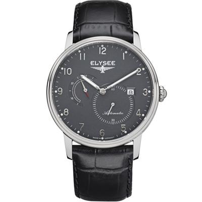 ELYSEE  Priamos  獨立秒針機械腕錶-灰/41mm