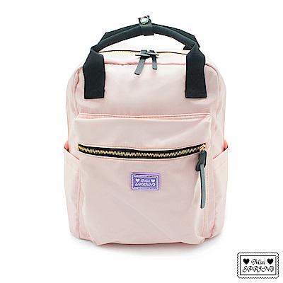 MINI SPRING-經典法式餅乾旅行後背包-櫻花柔淡粉