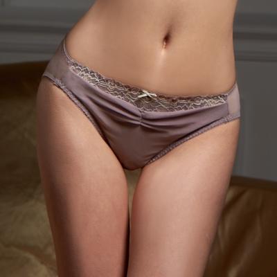 可蘭霓Clany   性感革命華麗雙色蕾絲內褲 優雅紫