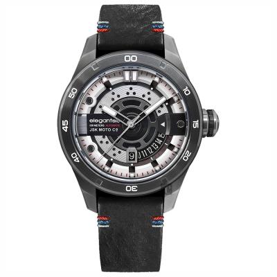 elegantsis x JSK moto JX 65 AS 聯名限量機械錶-精煉白/ 48 mm