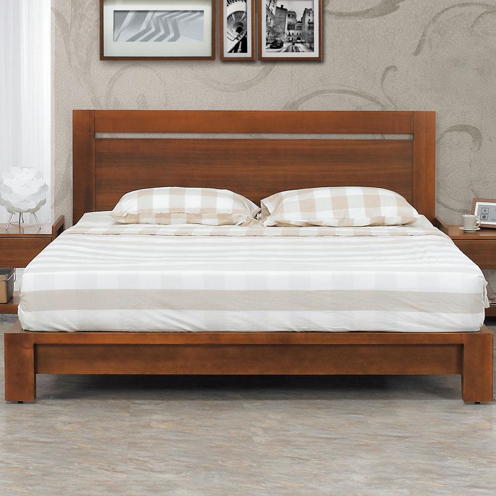 居家生活 費曼奇5尺淺胡桃雙人床(床頭片+床底)不含床墊 @ Y!購物