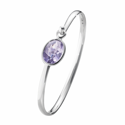 GEORG JENSEN-SAVANNAH 純銀手鐲 紫水晶