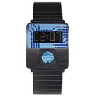 CLICK TURN 創意電路板個性電子腕錶-黑鋼藍