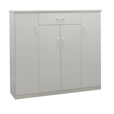 品家居 伊可4.3尺環保塑鋼單抽鞋櫃(五色可選)-128x33x117cm-免組