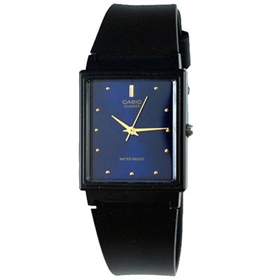 CASIO 簡約方型時尚設計腕錶(MQ-38-2A)-藍/26.5mm