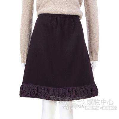 MOSCHINO 紫色拼接皺折下擺及膝裙