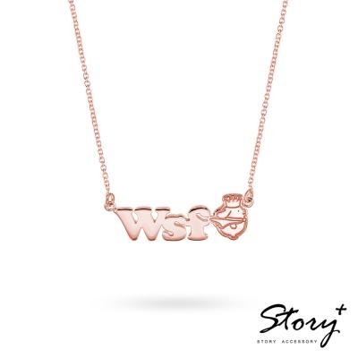 STORY ACCESSORY-披風款布丁狗-訂製字母純銀項鍊( 8 字內)