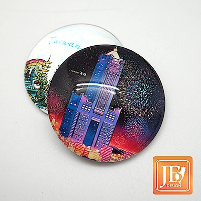 JB DESIGN-文創玻璃磁鐵-111_港都花火