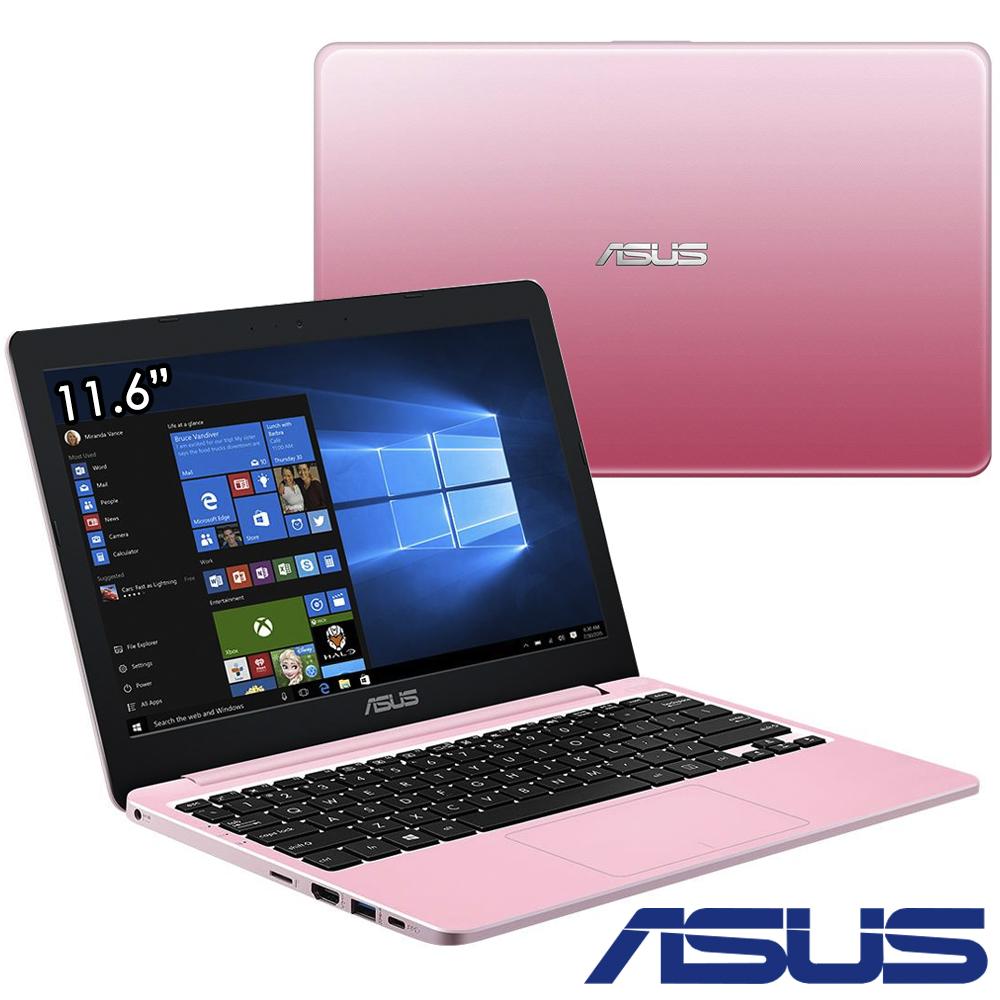 ASUS E203NA 11.6吋筆電N3350 32G 4G甜心粉